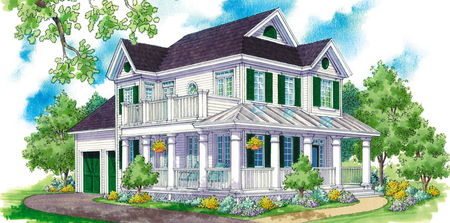 Cape Cod style house plans with a great front porch