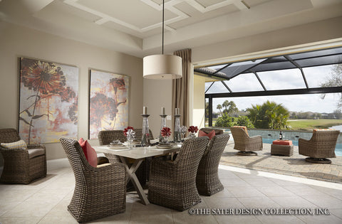 Florida Room with Fireplace by Sater