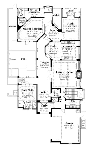 Avignon-First Level Floor Plan-#6769