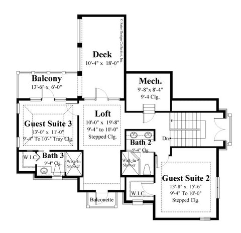 Avignon-Second Level Floor Plan-#6769