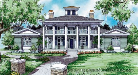 Anna Belle Front Elevation Plan # 6702