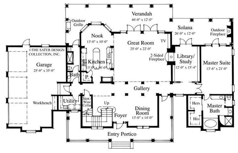 Anna Belle-Main Level Floor Plan- #6782