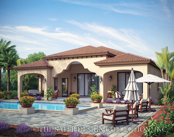 Arabella Rear Exterior-Plan #6799 Tuscan Styled Home