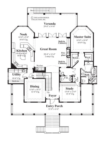 Les Anges-Main Level Floor Plan-Plan #6825