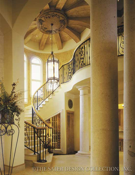 Mediterranean Staircase Tower : Two story house plans sater design collection