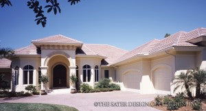Florida Style House Plans | Sater Design Collection Home Designs