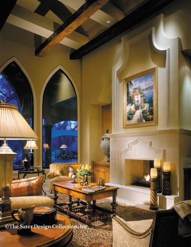 Marrakesh Spanish Colonial Revival Living Room