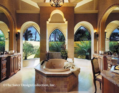 Marrakesh Spanish Colonial Revival Master Bathroom