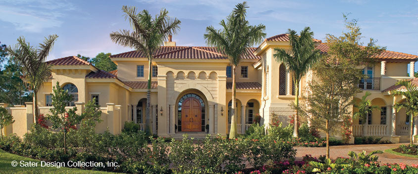 Plan of the week mediterranean house plans sater design for Beautiful mediterranean homes