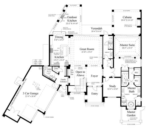 Plan of the week Contemporary Home Plan Sater Design Collection