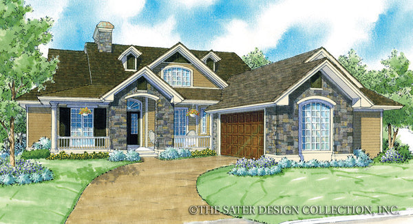 French Country Home Chantel-Front Elevation-Plan #7011