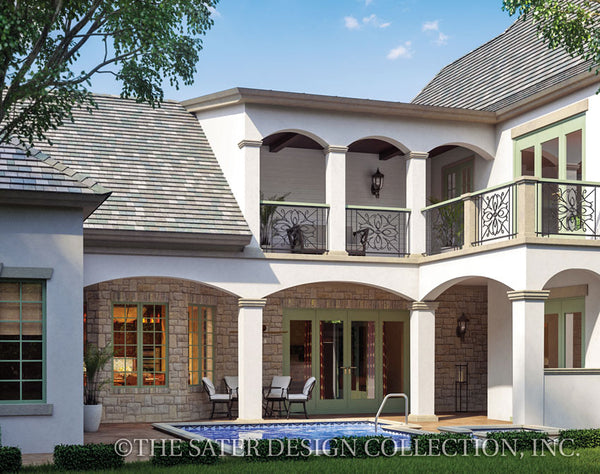 French Country Home Avignon-Rear Elevation-Plan #6769