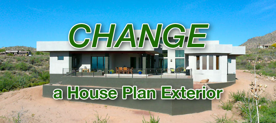Change a house plan exterior