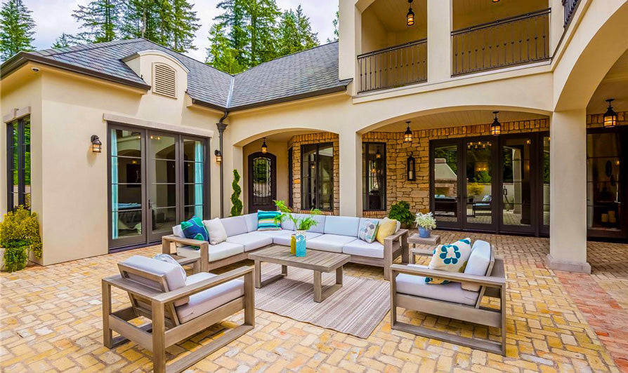 timeless classic courtyard home