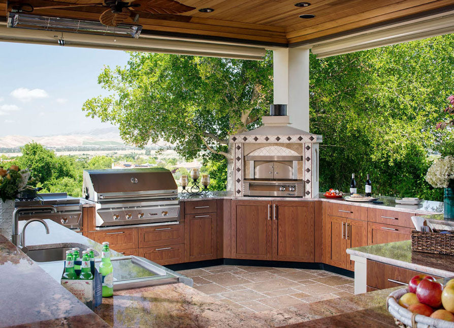 amazing outdoor kitchen in the country