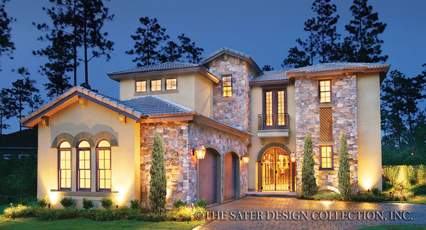 Two story house plans sater design collection for Two story mediterranean house plans