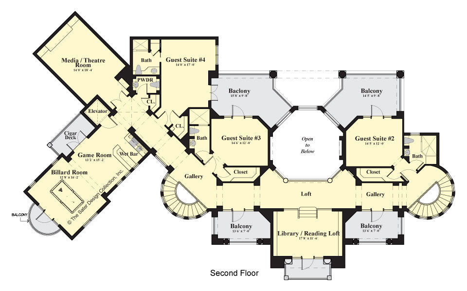 Loma Prieta - Second Floor plan