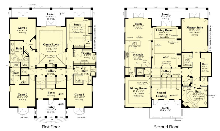floor plans of a pre-drawn house plan