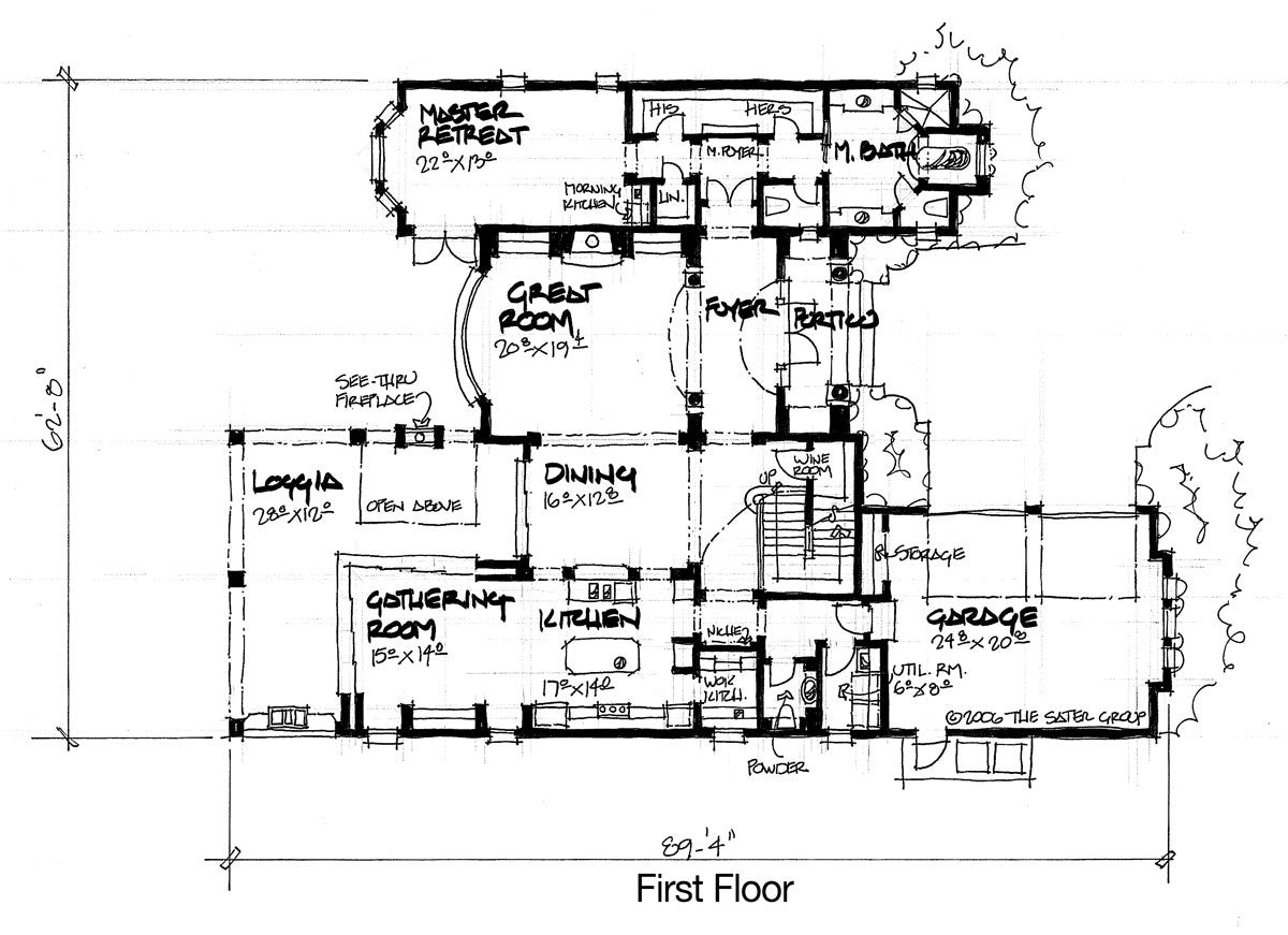 The Pualu - first floor plan