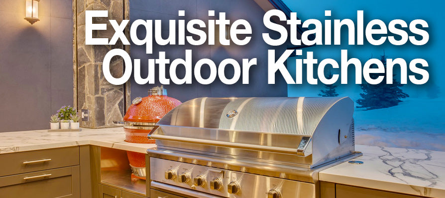 Stainless steel outdoor kitchen equipment