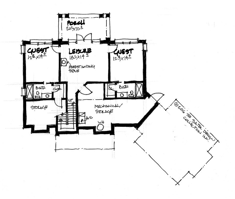 The Tamarack - a mountain house design lower level