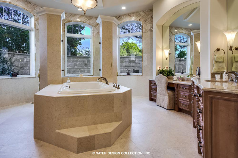 master suite bathroom of a custom designed house