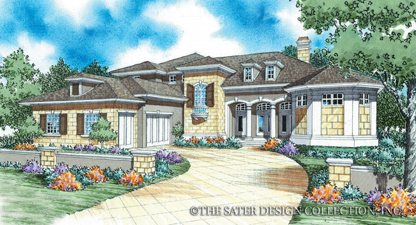 Argentellas -Front Elevation-Plan #8056