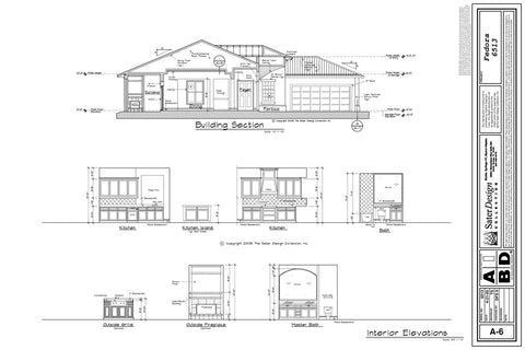Building Section Interior Elevations