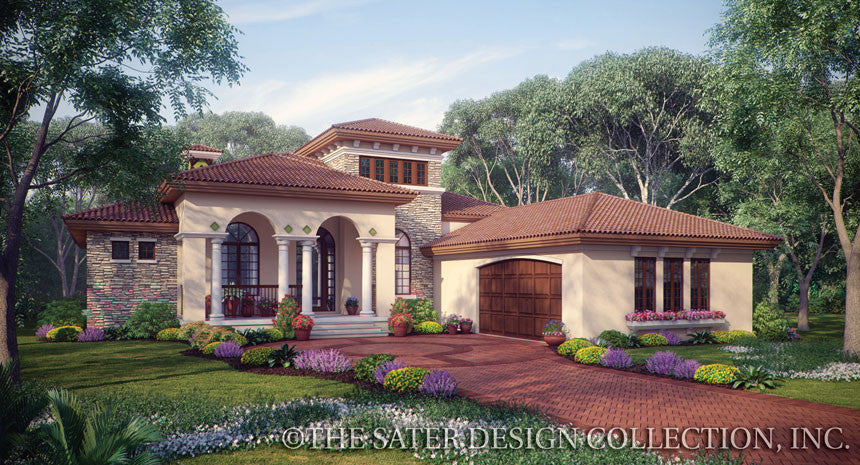 Plan of the week one story house plans sater design for Small tuscan style house plans