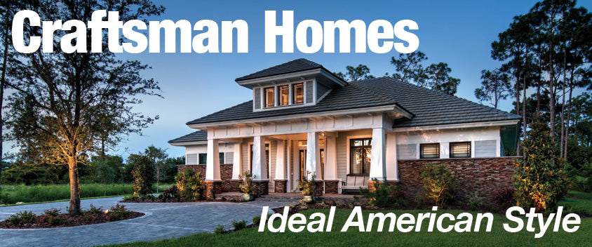 Craftsman homes ideal american style sater design for American craftsman home plans