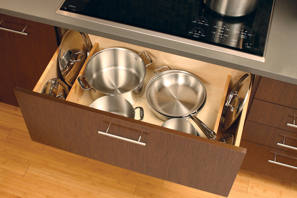Deep Drawers Bellow Range for Pots and Pans