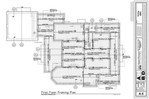 Floor Framing Plan sheet