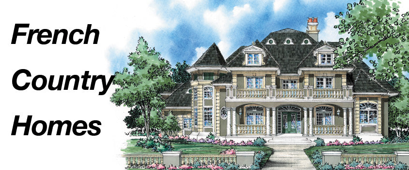 Wartime Inspiration French Country Home Plans Sater Design Collection