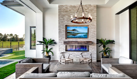 House Plans with outdoor fireplaces