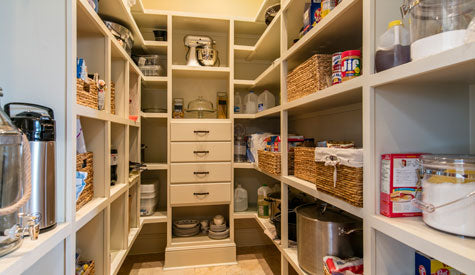 House plans with walk-in kitchen pantry