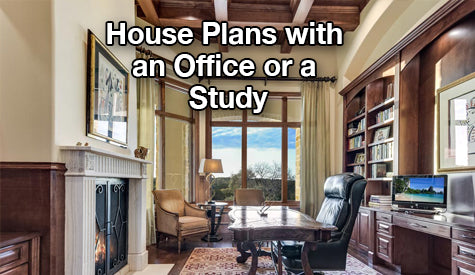 house plans with an Office or Study