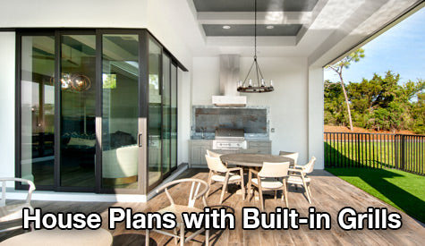 house plans with built-in grills