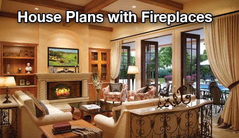 house plans with fireplaces