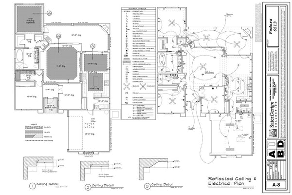 reflected ceiling \u0026 electrical plan (5 of 11) sater design collection Electrical Control Design