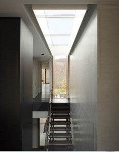 Skylight over a stairwell