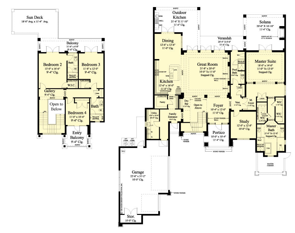 stock house plan floor plan