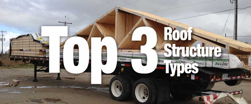 Top 3 Types of Roof Structures