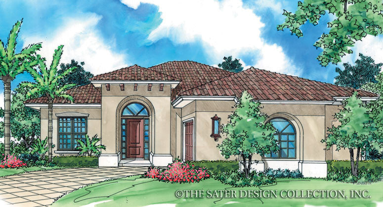 Cateena-Front Elevation- Plan #6503