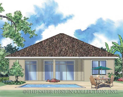 Cerafino-Rear Elevation-Plan #6504