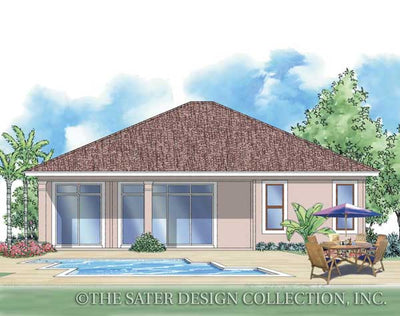 Bella Mia-Rear Elevation Render-Plan #6507