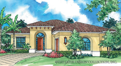 Fedora-Front Elevation-Plan #6513