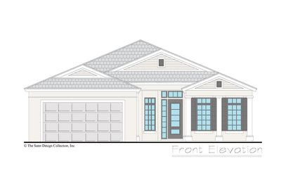 Gables home design front elevation