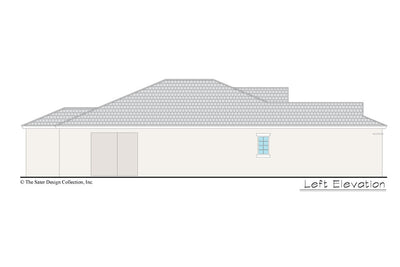 Gables home design left elevation