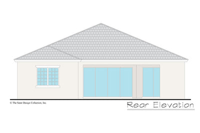 Gables home design rear elevation