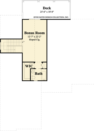 Josephine- Upper Level Floor Plan -Plan #6533